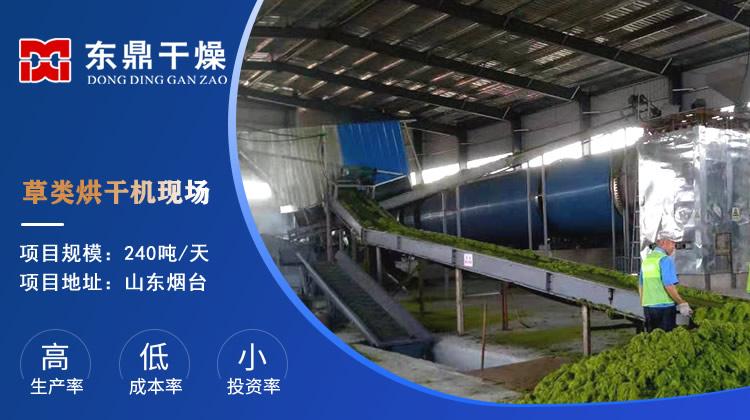 山东240吨草料烘干机生产现场视频