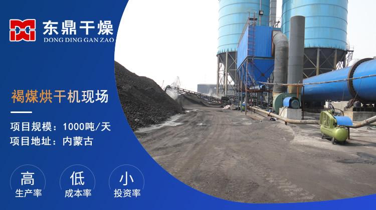 大型褐煤烘干机生产线现场视频